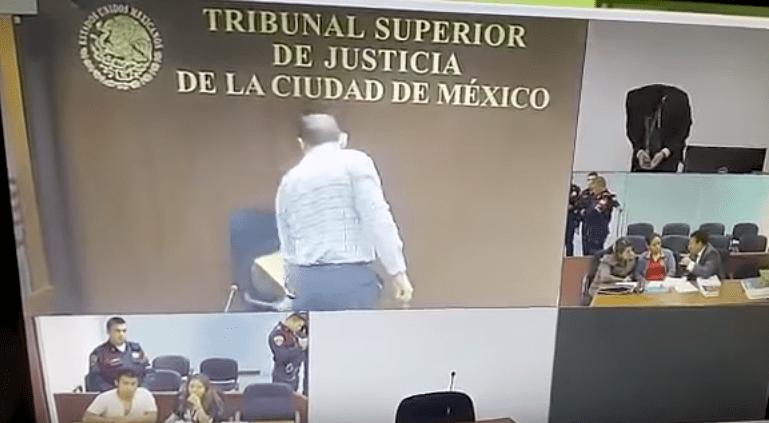 Suspenden a juez que rompió silla en el Tribunal Superior de Justicia - Captura de pantalla