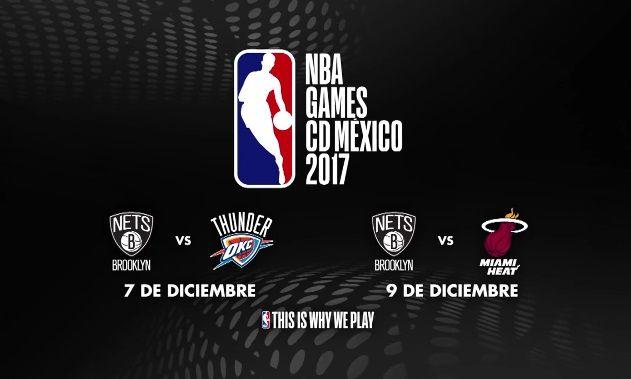 NBA anuncia dos partidos en México para diciembre