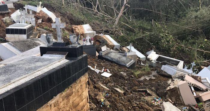Huracán María sacó cadáveres de sus tumbas en Puerto Rico - Foto de EFE