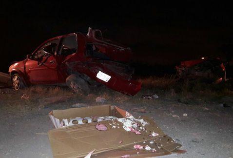 Volcadura en Nuevo León deja tres heridos
