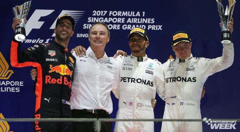 Checo Pérez queda en quinto lugar en GP de Singapur