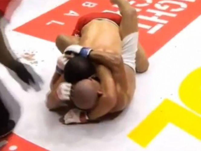 #Video Peleador de MMA muerde a oponente y abandona el octágono - Captura de pantalla