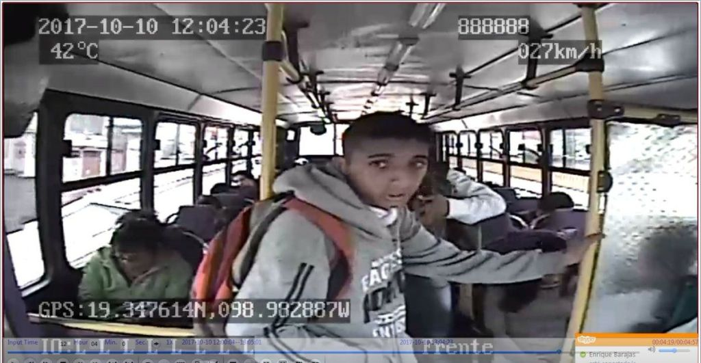#Video Asalto a transporte público en Chalco - Captura de pantalla