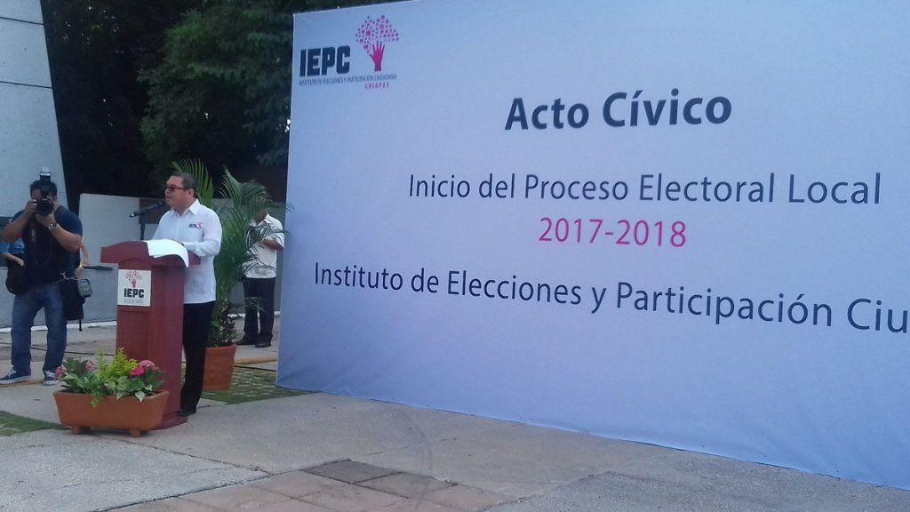 Inicia proceso electoral 2017-2018 en Chiapas - Foto de IEPC