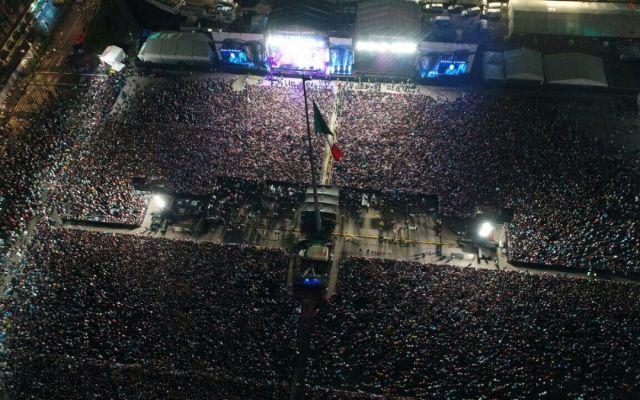 Saldo blanco tras concierto 'Estamos Unidos Mexicanos' - Foto de SSP