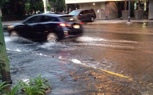 Fuga de agua provoca inundación en Polanco - Foto de Foro tv