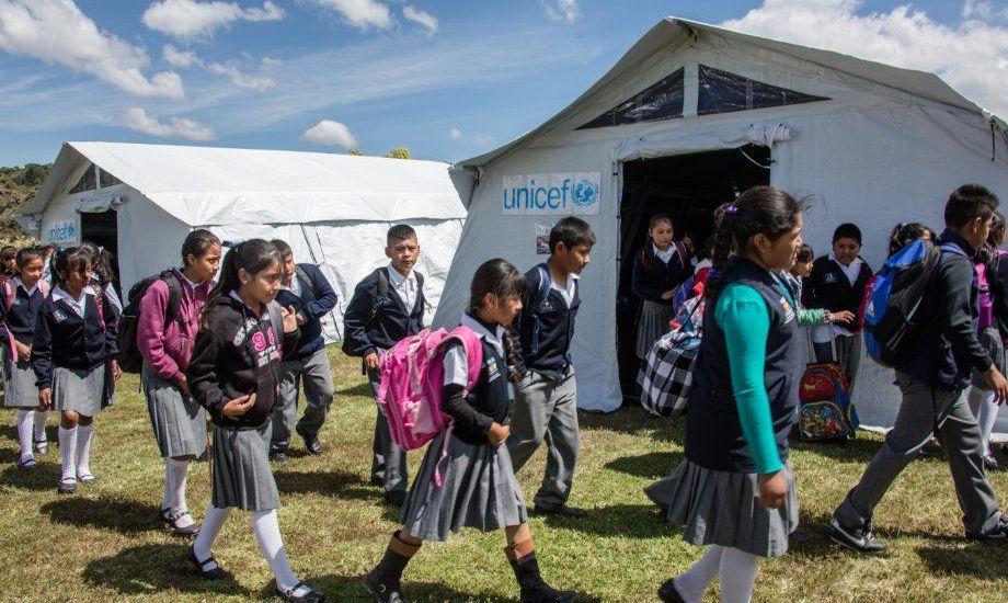 Unicef dona aulas móviles en Morelos - Foto de Unicef