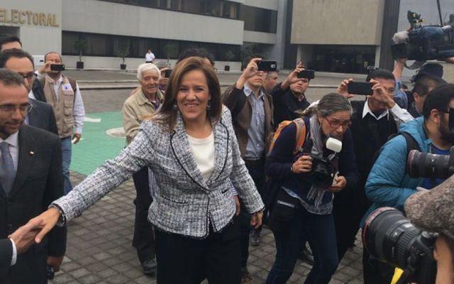 Zavala se registra como aspirante a candidata independiente - Foto de Twitter