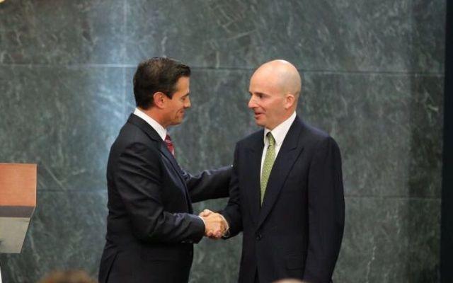 """México estáen ruta para cumplir metas fiscales"": González Anaya - Foto de @JAGlezAnaya"
