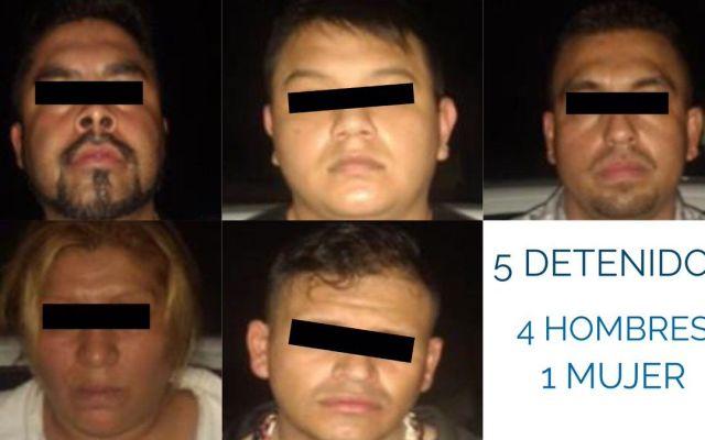 Detienen a cinco presuntos asaltantes en Buenavista