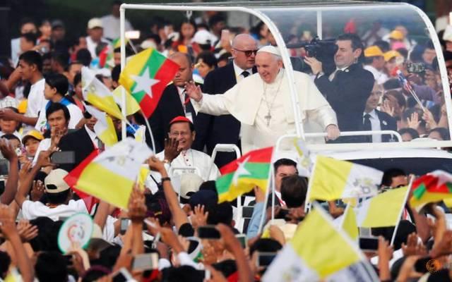El papa llama a la reconciliación en Myanmar - Foto de REUTERS/Jorge Silva