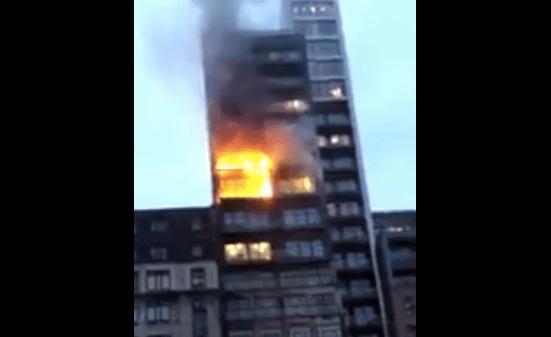Incendio en edificio de Manchester