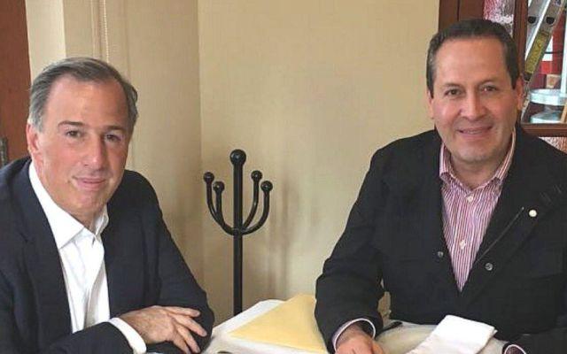 José Antonio Meade conversa con Eruviel Ávila agenda del PRI - Foto de @MrElDiablo8