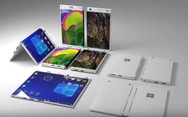 Bocetos del posible Surface Phone de Microsoft - Foto de Internet