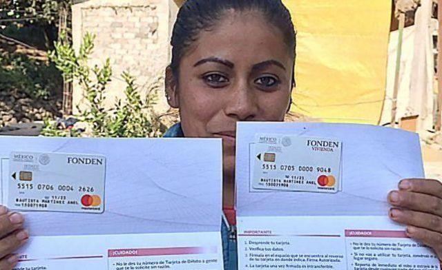 Termina repartición de tarjetas del FONDEN en Estado de México - Foto de Internet