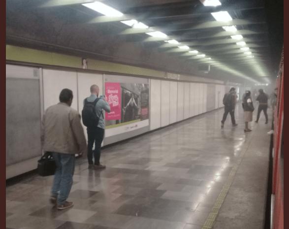 #VIDEO Humo en estaciones de la Línea 3 del Metro - Foto de Twitter