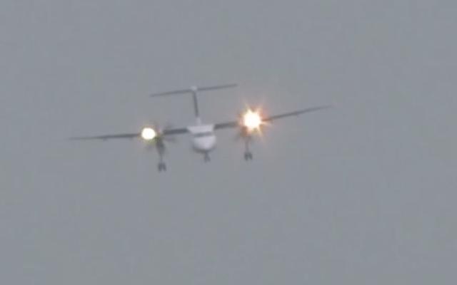 #Video Avión aterriza lateralmente debido al viento - Foto de HvdH Plane Spotter
