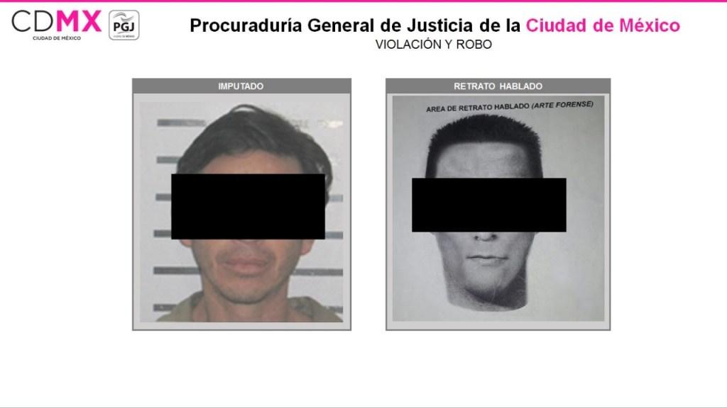 Sujeto pasaría 113 años en prisión por violar y robar - Foto: PGJ de la Ciudad de México.
