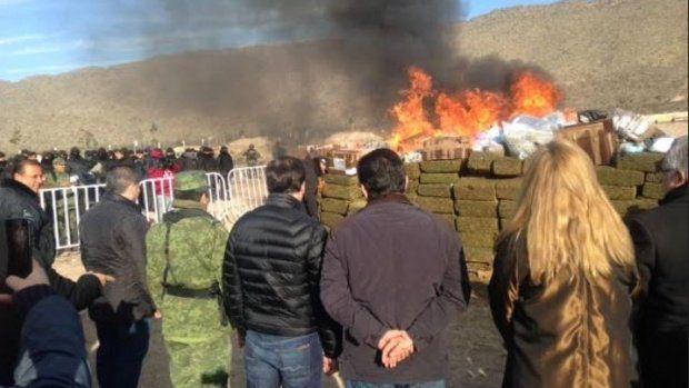 Incineran más de cinco toneladas de drogas en Coahuila - Foto de Internet
