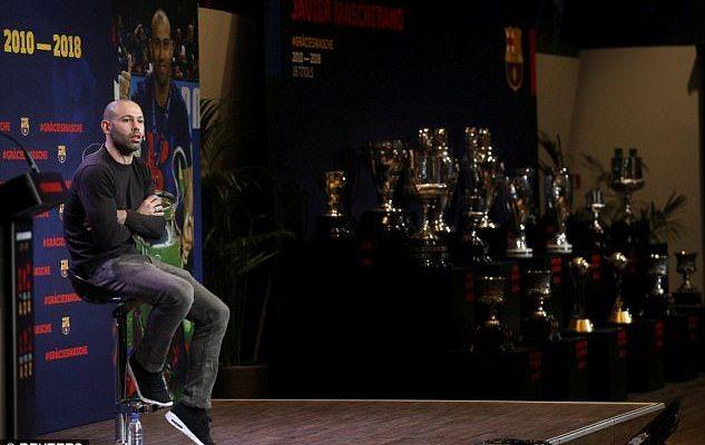 Mascherano se despide del Barcelona - Foto de REUTERS