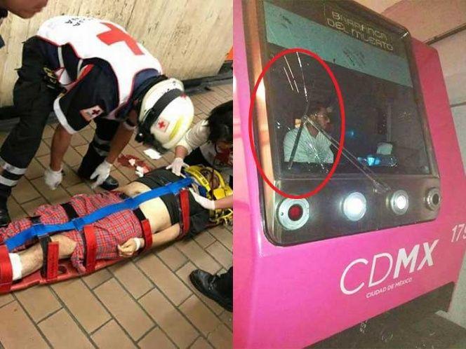 Hombre recibe golpe de convoy tras asomarse a túnel en Metro San Joaquín - Foto de Excélsior