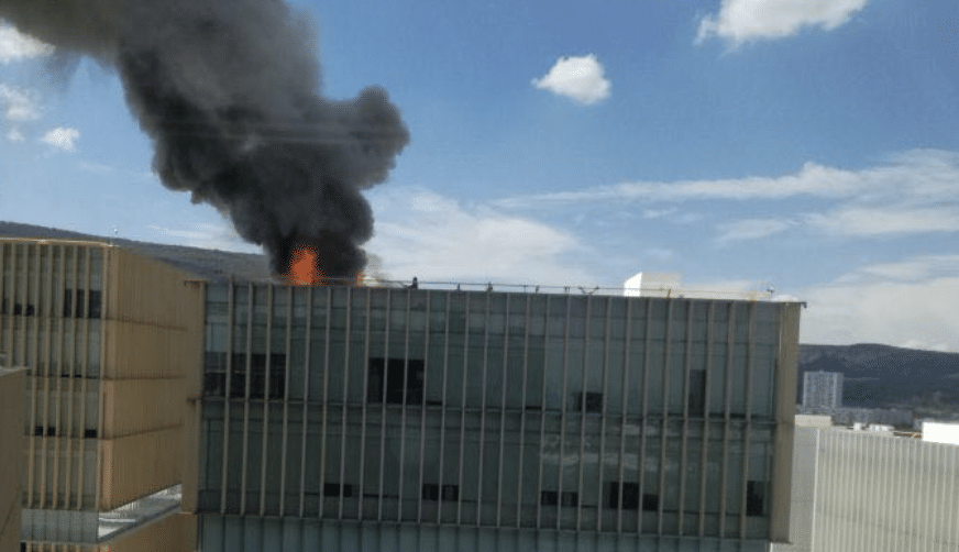 #Video Incendio en edificio de Zapopan, Jalisco