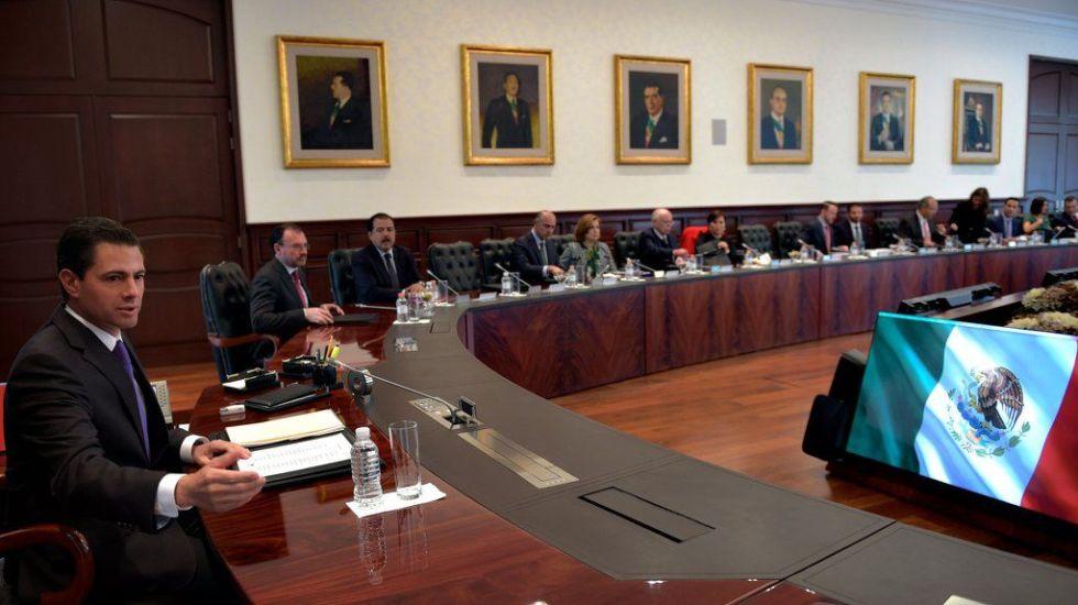 Sostiene Peña Nieto reunión con Gabinete