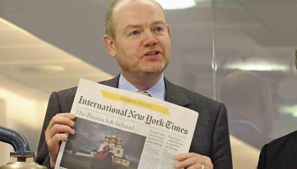 """""""Periodismo impreso moriría en 10 años"""": CEO del New York Times - Foto: AP."""