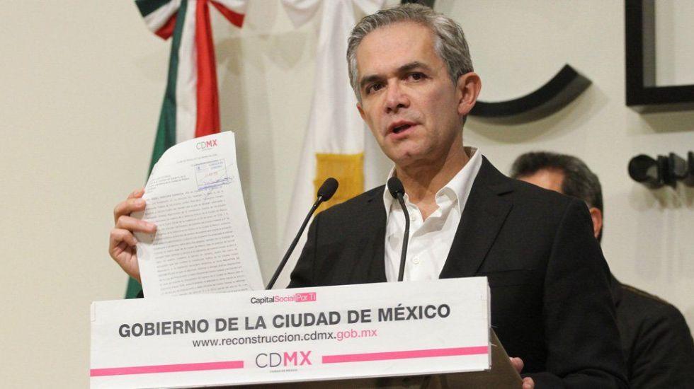 Mancera presenta propuesta para transparentar Fondo de Reconstrucción - Foto de Quadratín