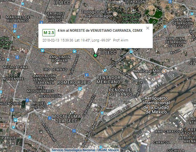 Sismo magnitud 2.5 sacude la Ciudad de México - Foto de SkyAlert