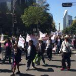 Las movilizaciones de este lunes en la Ciudad de México - Foto de Jonathan Del Moral