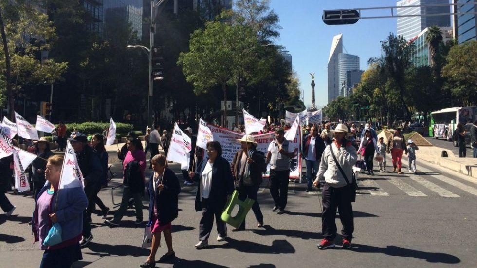 Las movilizaciones de este jueves en la Ciudad de México - Foto de Jonathan Del Moral