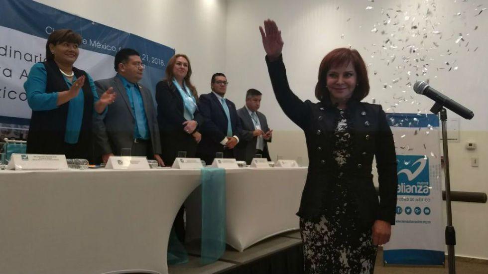 Purificación Carpinteyro candidata del Panal a la Ciudad de México - Foto de Quadratín