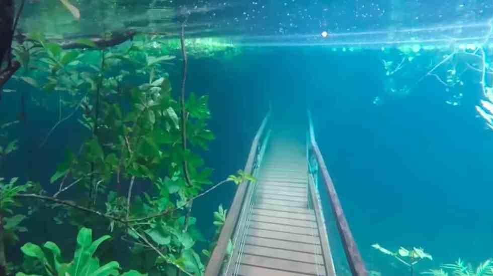 #VIDEO Ruta de senderismo sumergida crea imágenes impactantes - Captura de Pantalla