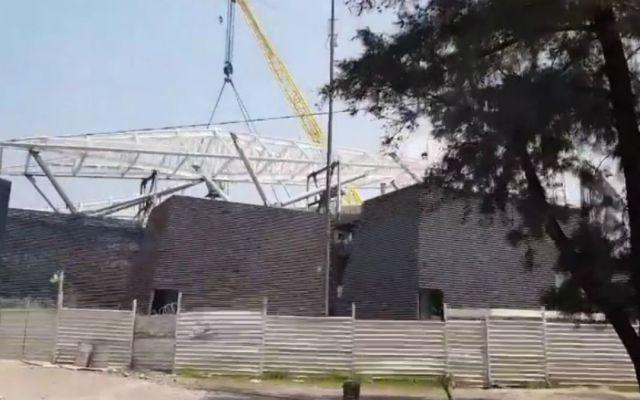 #Video Así va la construcción del estadio de los Diablos Rojos