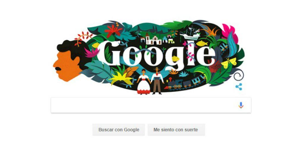 Google celebra 91 aniversario del natalicio de García Márquez - Foto: Google.
