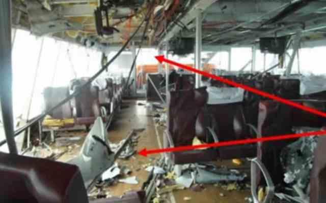 Imágenes del artefacto que explotó en ferry de Playa del Carmen - Foto de Noticieros Televisa