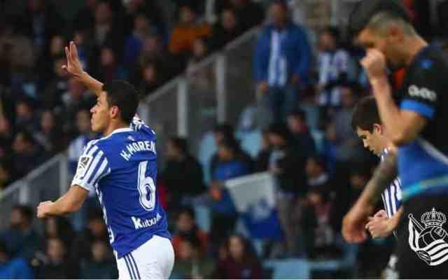 Héctor Moreno anota en victoria de la Real Sociedad - Foto de @RealSociedadEN