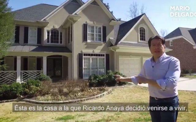 #Video Mario Delgado muestra casa en la que vivía Anaya en Atlanta