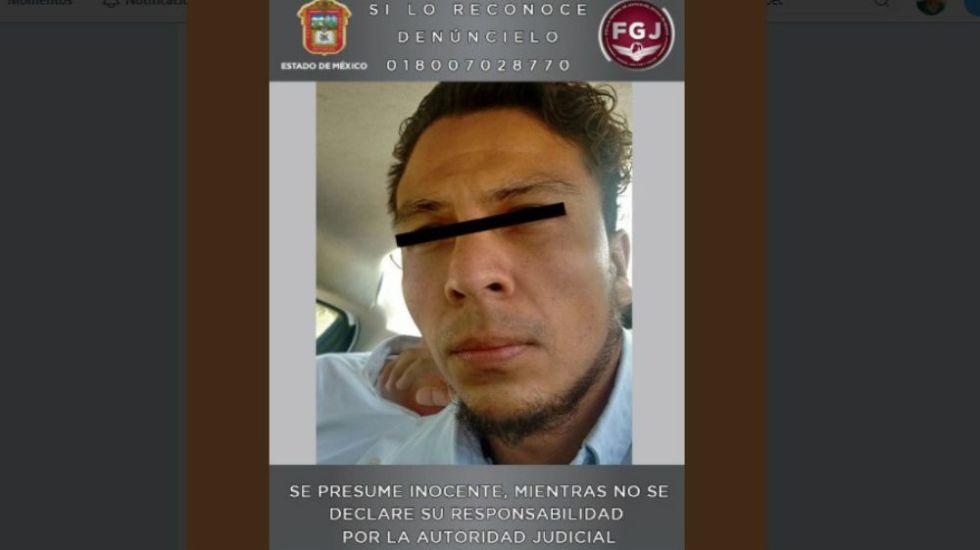 Detienen en Yucatán a presunto asesino de familia de Tultepec - Foto: FGJEM.