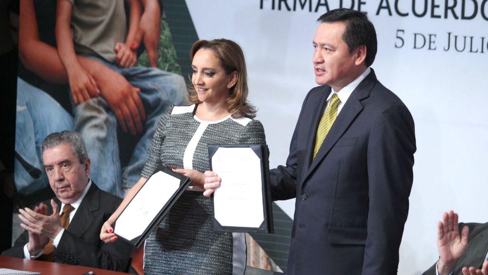 Ruiz Massieu y Osorio Chong encabezan lista de plurinominales del PRI - Foto: Segob.