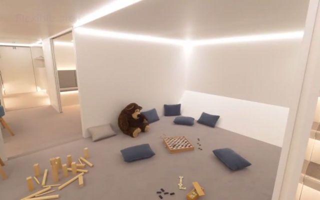 Airbus presenta proyecto para instalar áreas de juego y camas en aviones