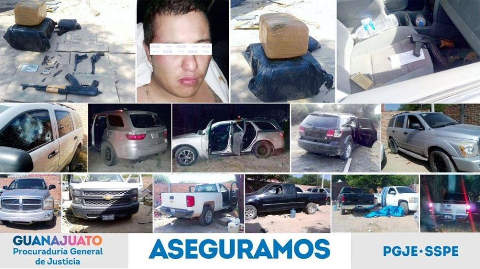 Asesinan a tres y hieren a uno tras secuestrarlos en Guanajuato - Foto de PGJE Guanajuato
