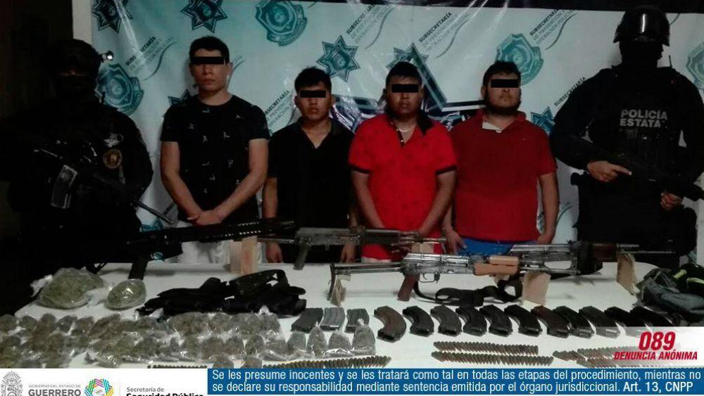Vinculan a proceso a cuatro jóvenes por asesinato de policías en Zihuatanejo - Foto: SSP Guerrero.