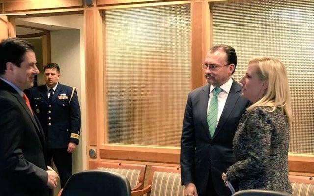 Videgaray acuerda con Nielsen tratar temas de migración - Foto de SRE