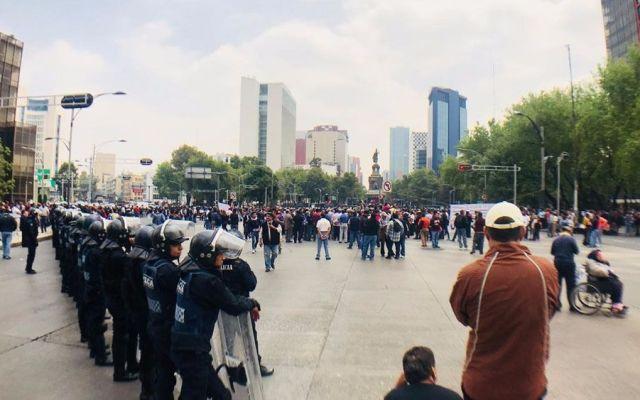 Marchas y plantones afectan la economía de la Ciudad de México - Foto de Tania Villanueva