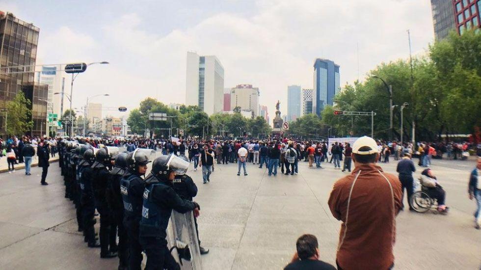 Al menos cinco movilizaciones en la Ciudad de México - Foto de Tania Villanueva