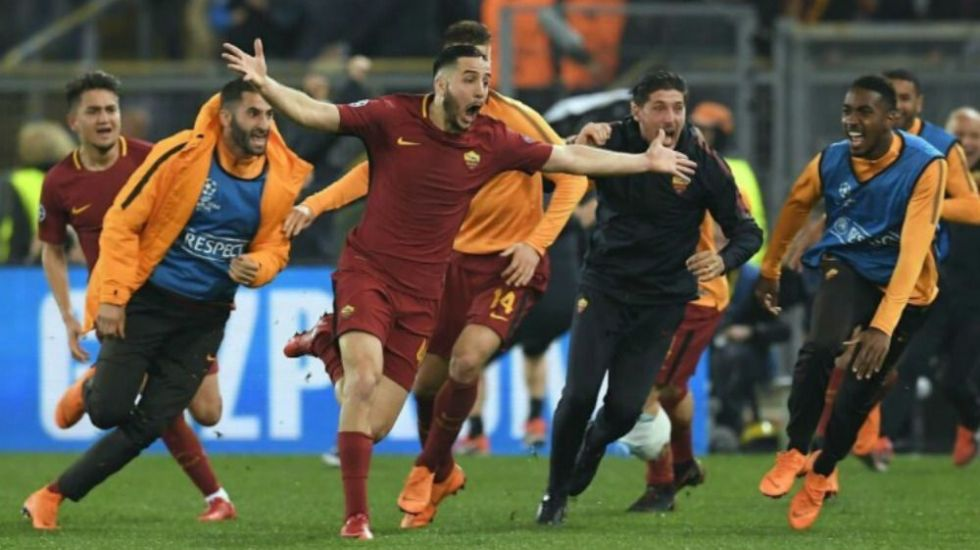 La Roma elimina al Barcelona en voltereta histórica - Foto: @MartinoSports.