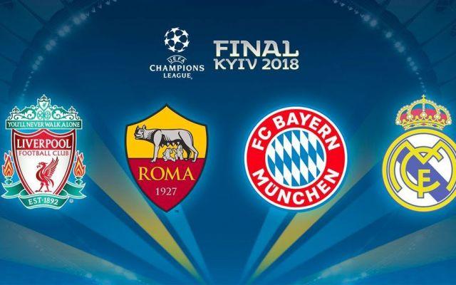 Definidas las semifinales de la Champions League - Foto de @ChampionsLeague