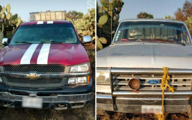 Confiscan 19 vehículos utilizados por presuntos huachicoleros en el Edomex - Foto: SSEM.